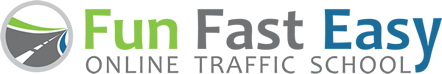 Fun Fast Easy Traffic School logo